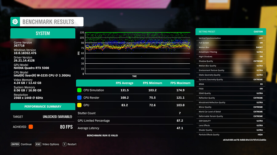 Shadow Ultra Forza Horizon 4 1440p Max Settings